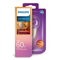 Philips LED luster 8-60W P50 E14 827 CL WarmGlow